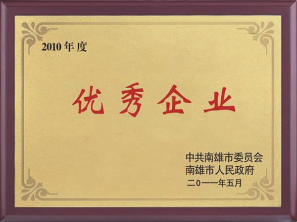 2010 Outstanding Enterprise