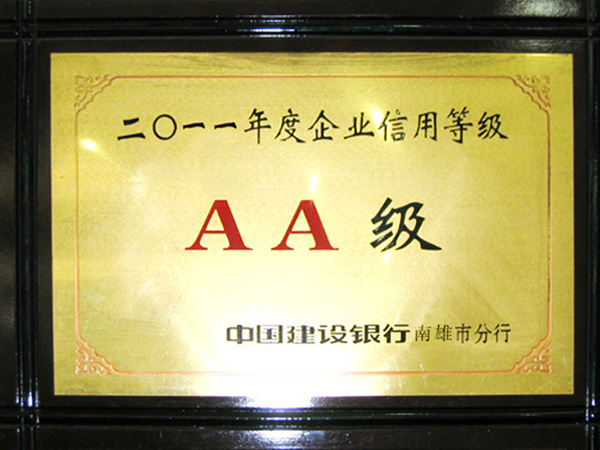 2011 Corporate Credit Rating-AA